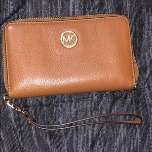 Michael Kors brown wallet/ wristlet